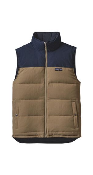 Patagonia Reversible Bivy Down Vest Men Ash Tan